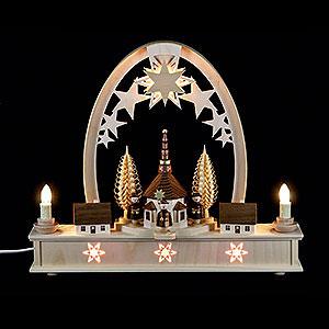 Candle Arches Fret Saw Work Seidel Arch Carol Singers - 36x31 cm / 14x12 inch