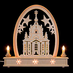Candle Arches Fret Saw Work Seidel Arch Church of Dresden - 36x31 cm / 14x12 inch
