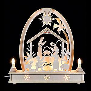 Candle Arches Fret Saw Work Seidel Arch Crib - 36x37 cm / 14x15 inch