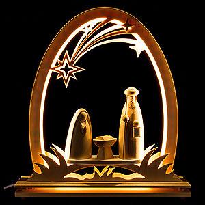 Candle Arches Fret Saw Work Seidel Arch Nativity - 31x33 cm / 12.2x13 inch