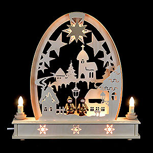 Candle Arches Fret Saw Work Seidel Arch Winter Village - 36x34 cm / 14x13 inch