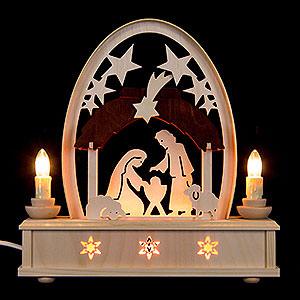 Schwibbögen Laubsägearbeiten Seidelbogen Christi Geburt - 25 cm