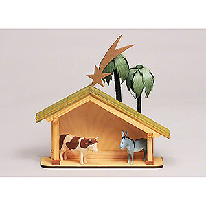 Small Figures & Ornaments All Nativity Figurines Seiffen Nativity - Nativity Stable - 6 pieces - 23 cm / 9.1 inch