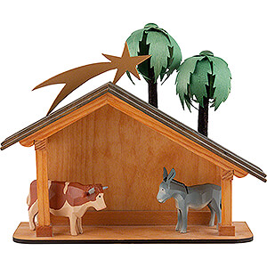 Nativity Figurines All Nativity Figurines Seiffen Nativity - Nativity Stable - 6 pieces - 23 cm / 9.1 inch