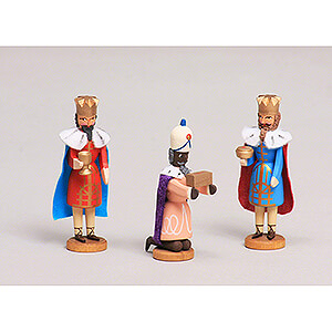 Small Figures & Ornaments All Nativity Figurines Seiffen Nativity - Three Magis - 3 pieces - 8 cm / 3.1 inch