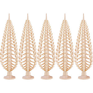 Small Figures & Ornaments Wood Chip Trees Wood Chip Trees (Seiff. Vk.) Seiffen Wood Chip Tree Set of 5 - 20 cm / 7.9 inch