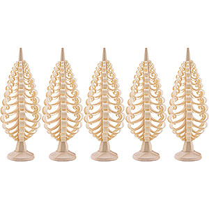 Small Figures & Ornaments Wood Chip Trees Wood Chip Trees Seiffen Wood Chip Tree Set of 5 - 5 cm / 2 inch