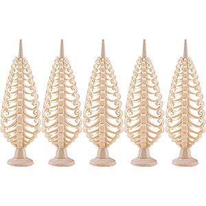 Kleine Figuren & Miniaturen Spanbäume Spanbäume Seiffener Spanbaum 5er Set - 10 cm