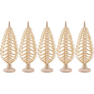 Kleine Figuren & Miniaturen Spanbäume Spanbäume Seiffener Spanbaum 5er Set - 5 cm
