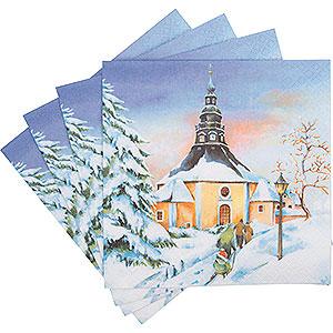 Kleine Figuren & Miniaturen Servietten Servietten Seiffener Sonnenuntergang - 20 Stück