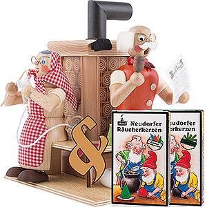 Räuchermänner Alle Räuchermänner Set Räuchermännchen Großeltern am Kachelofen und zwei Packungen Räucherkerzen
