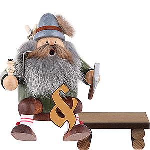 Räuchermänner Berufe Set Räuchermännchen Holzfäller mit Bank