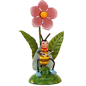 Small Figures & Ornaments Hubrig Flower Kids Set of Three- Bees Morning Mail - 6 cm / 2,5 inch