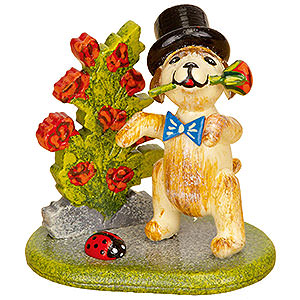 Small Figures & Ornaments Hubrig Flower Kids Set of Three- Little Rose Gentleman - 4 cm / 1,5 inch