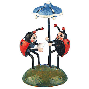 Small Figures & Ornaments Hubrig Flower Kids Set of Two- Ladybug Duet - 4,5 cm / 1,75 inch