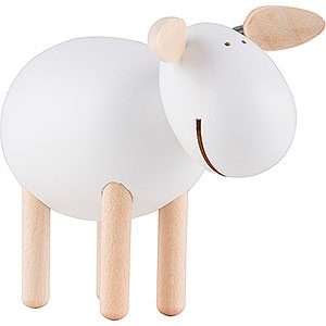 Small Figures & Ornaments Näumanns Wicht Sheep standing, laughing - White - 6 cm / 2.4 inch