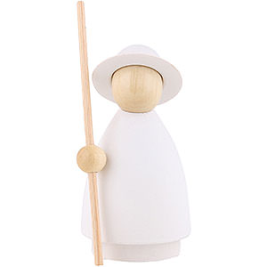Small Figures & Ornaments Nativity Scenes Shepherd - Modern White/Natural - 8 cm / 3.1 inch
