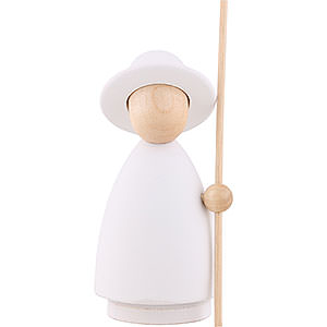 Small Figures & Ornaments Nativity Scenes Shepherd - Modern White/Natural - Large - 10 cm / 3.9 inch