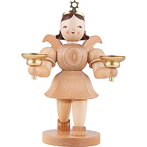 World of Light Candle Holder Angels Shortskirt Angel Natural, with Candle Holder - 20 cm / 7.8 inch