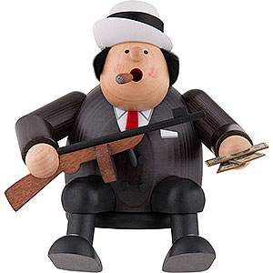 Smokers Famous Persons Smoker - Al Capone - Edge Stool - 15 cm / 5.9 inch