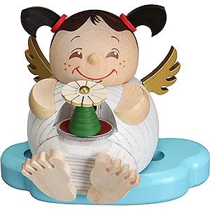Smokers Misc. Smokers Smoker - Angel with Ore Mountains Pyramid - Ball Figure - 10 cm / 3.9 inch