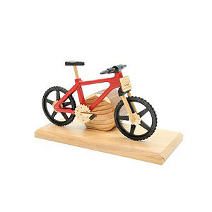 Smokers Hobbies Smoker - Bicycle EBM Red 20x9x14 cm / 9x4x6 inch