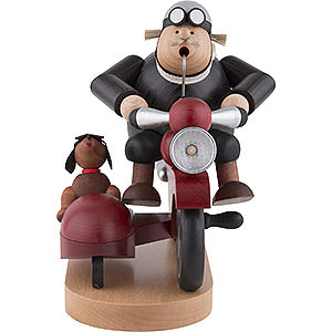 Smokers Hobbies Smoker - Biker with Sidecar - 21 cm / 8.3 inch