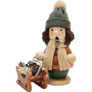 Smokers Hobbies Smoker - Boy with Sleigh - 14 cm / 5.5 inch