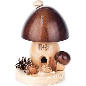 Smokers Misc. Smokers Smoker - Brown Mushroom - 14 cm / 5.5 inch