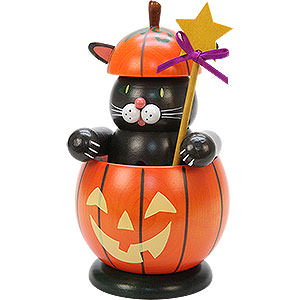 Smokers Animals Smoker - Cat with Pumpkin - 16,5 cm / 6 inch