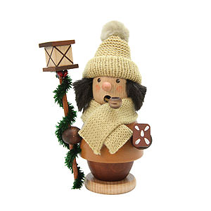 Smokers Misc. Smokers Smoker - Child with Lantern - Natural - 13 cm / 5 inch