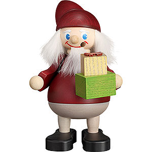 Smokers Santa Claus Smoker - Christmas Heinzel with Gift - 15 cm / 5.9 inch