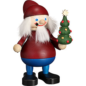 Smokers Santa Claus Smoker - Christmas Heinzel with Tree - 15 cm / 5.9 inch
