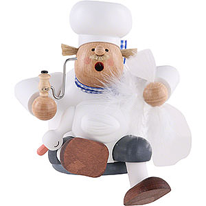 Smokers Professions Smoker - Cook/Chef with Goose - Shelf Sitter - 17 cm / 7 inch