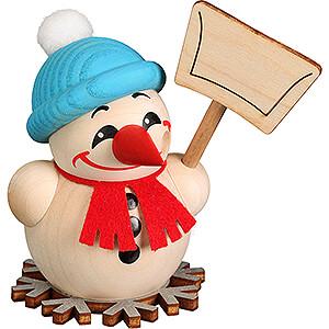 Smokers Snowmen Smoker - Cool Man Snow Shoveler - Ball Figure - 9 cm / 3.5 inch