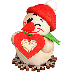 Smokers Snowmen Smoker - Cool Man with Heart - Ball Figure - 8 cm / 3.1 inch