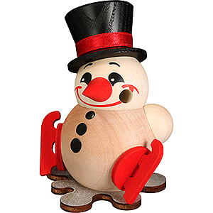Smokers Snowmen Smoker - Cool Man with Ice Skates - Ball Figure - 9 cm / 3.5 inch