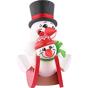 Smokers Misc. Smokers Smoker - Cool-Men on Sleigh - Ball Figure - 12 cm / 5 inch