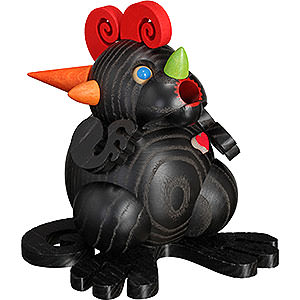 Smokers Seiffen Ball figures Smoker - Dragon 'Black Dragon Heart' - Ball Figure - 11 cm / 4.3 inch