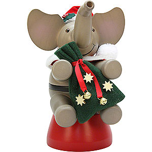 Smokers Santa Claus Smoker - Elephant Santa Claus - 20 cm / 7.9 inch