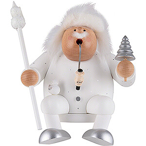 Smokers Santa Claus Smoker - Father Frost - Edge Stool - 16 cm / 6.3 inch