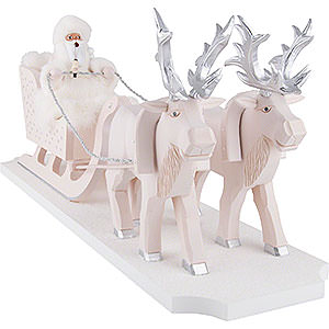 Smokers Santa Claus Smoker - Father Frost with Reindeer Sleigh - 26 cm / 10.2 inch