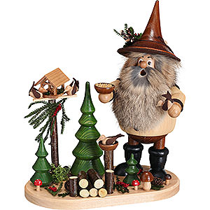 Smokers Hobbies Smoker - Forest Gnome Bird Lover on Oval Plate - 26 cm / 10.2 inch