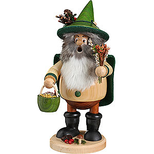 Smokers Hobbies Smoker - Forest Gnome Herb Gatherer Green - 25 cm / 10 inch