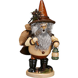 Smokers Hobbies Smoker - Forest Gnome Hiker, Natural - 25 cm / 10 inch