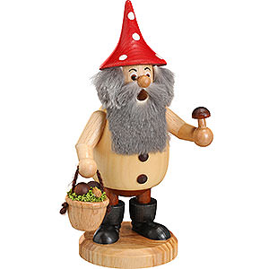 Smokers Hobbies Smoker - Forest Gnome Mushroom Picker Natural - 15 cm / 6 inch