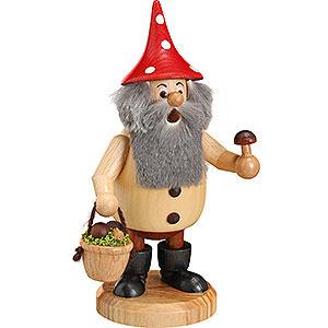 Smokers Hobbies Smoker - Forest Gnome Mushroom Picker Natural - 15 cm / 6 inch