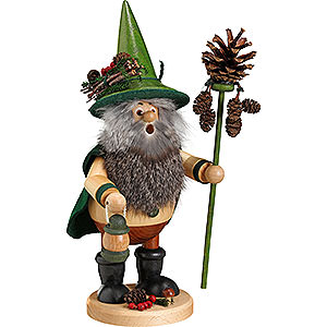 Smokers Hobbies Smoker - Forest Gnome Pine Cone Picker, Green - 25 cm /10 inch