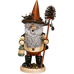 Smokers Hobbies Smoker - Forest Gnome Pine Cone Picker, Natural - 25 cm /10 inch