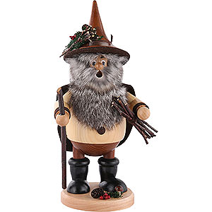 Smokers Hobbies Smoker - Forest Gnome Wood Collector, Natural - 25 cm / 10 inch